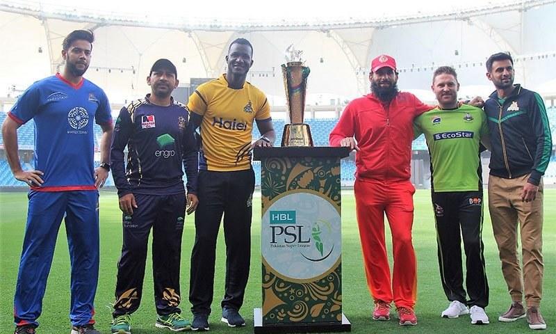 PSL trophy unveiled by franchise captains in Dubai